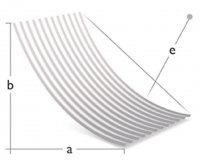 Concave forming topside radius