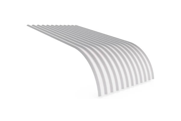 Grey color curving quality roofing sheets