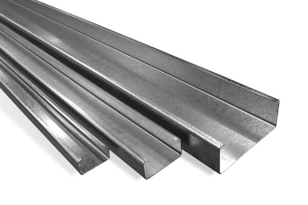 Galvanised steel C&Z purlins