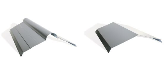 Queensland sheet metal 2 different kinds of ridge capping