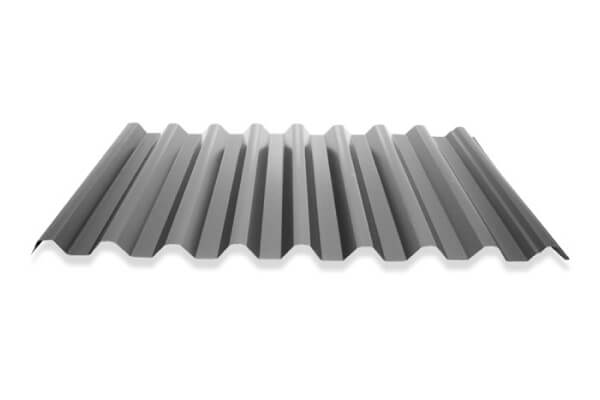 Grey color span roofing with square corrugations