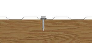 Fixing mini rib walling into timber