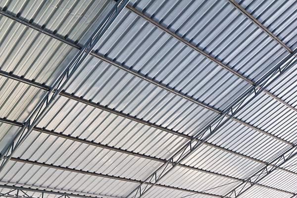 Metal industrial factory roof