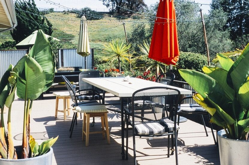 Terrace garden with sitting arrangement