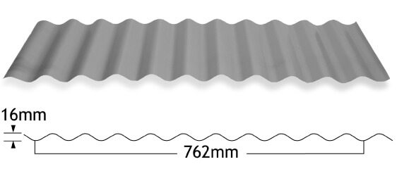 Grey color corrugated sheet measurements