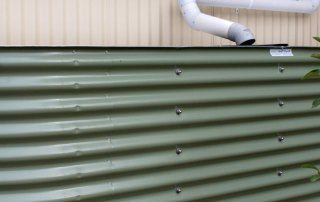Olive green color rainwater tanks