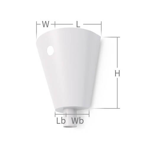 Conical Rainwater Head Measurements