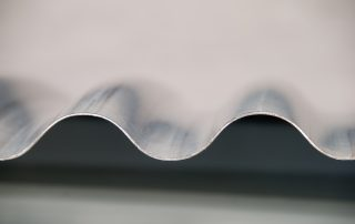 Side view of corrugated sheet metal