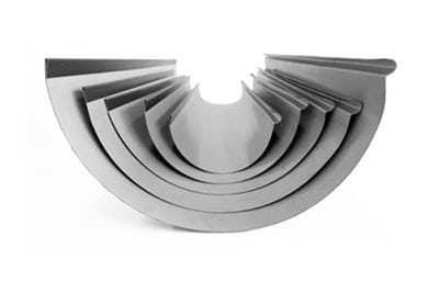 Big half round gutter in different sizes by Queensland sheet metal