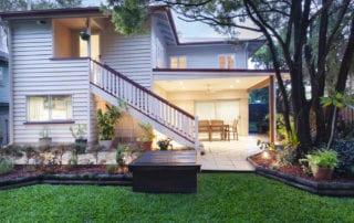 Australian home at dusk
